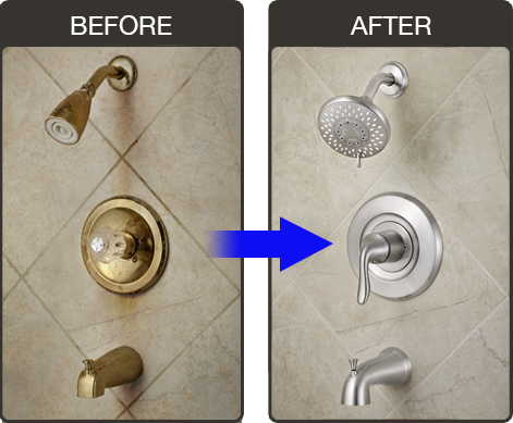 Bathroom Shower Faucet Replacement